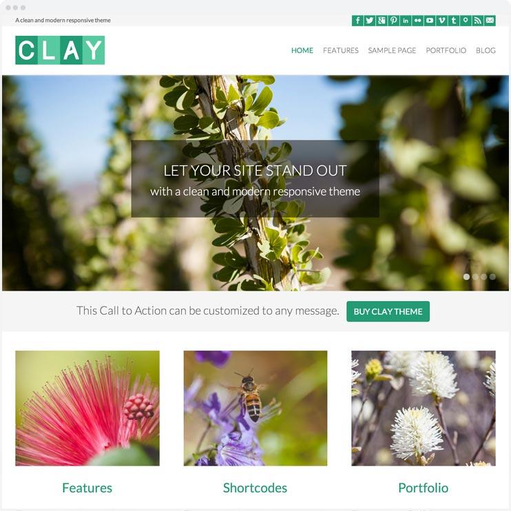 Clay - Responsive WordPress Theme