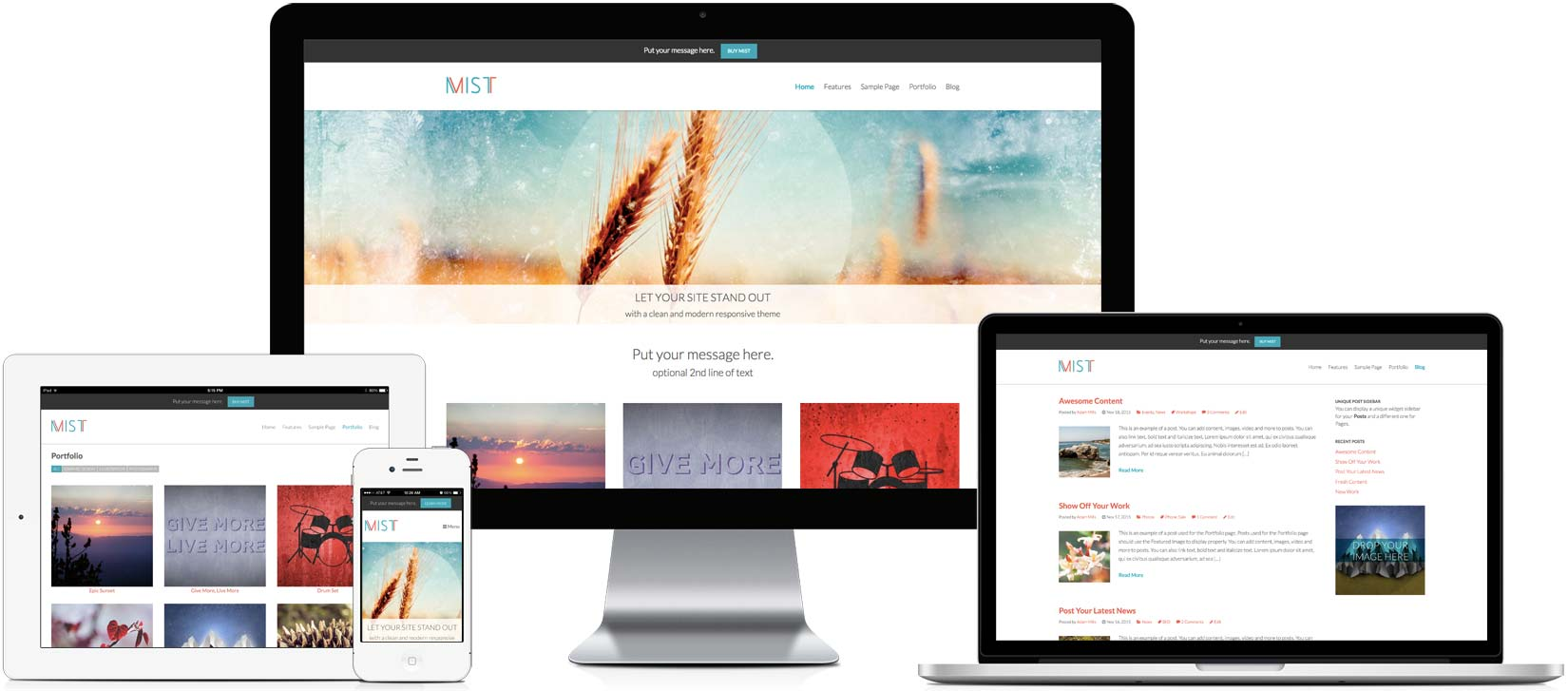 Mist - Responsive WordPress Theme