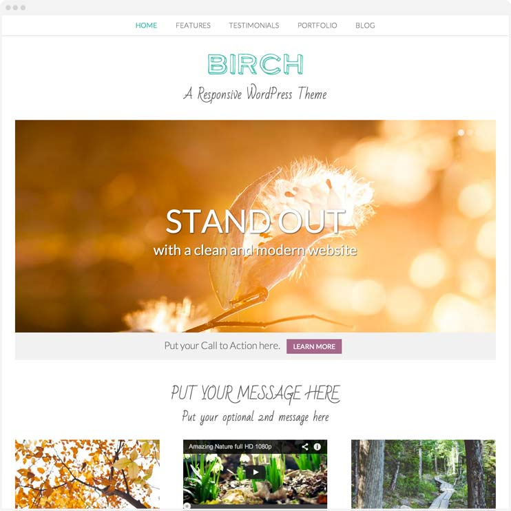 Birch - Responsive WordPress Theme