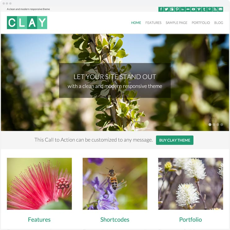 Clay - Responsive WordPress Theme