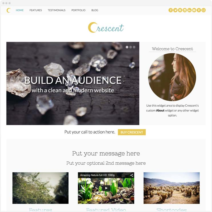 Crescent - Responsive WordPress Theme