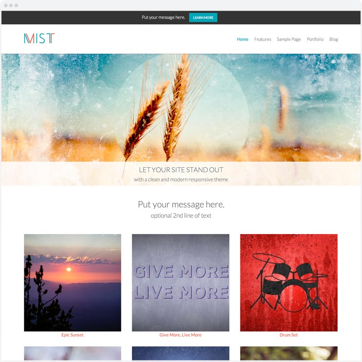 Mist - Responsive WordPress Theme