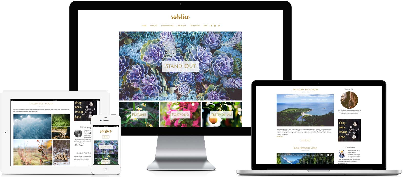 Solstice - Responsive WordPress Theme